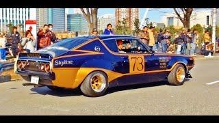 getlinkyoutube.com-【ニューイヤーミーティング2015】 街道レーサー 竹ヤリ 1/4 シャコタン 車高短 Lowered Lowcar exhaust