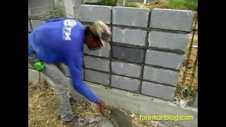 getlinkyoutube.com-วิธีก่ออิฐบล็อก สร้างบ้าน ทำรั้วบ้าน