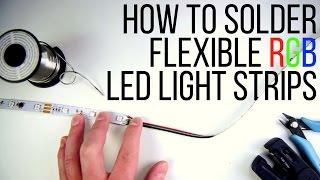 getlinkyoutube.com-How to Solder Flexible RGB LED Light Strips