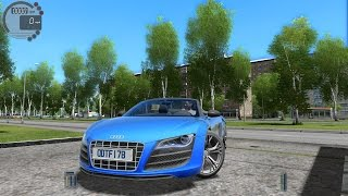 getlinkyoutube.com-City Car Driving 1.5.0 Audi R8 GT Spyder [Logitech G27]