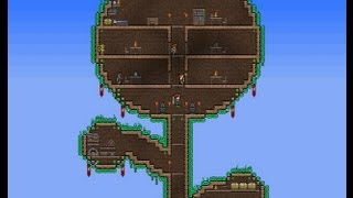 getlinkyoutube.com-Terraria Tree House Speedbuild