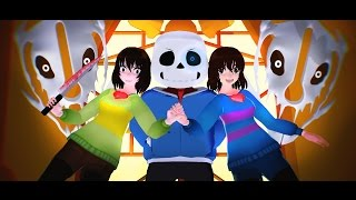 getlinkyoutube.com-[MMD 💙 Undertale] - Megalovania - (Full Animated Fight)