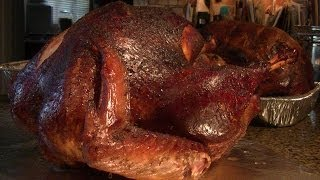 getlinkyoutube.com-Smoked Turkey - Apple/Cherry/Pear Wood & Bourbon Smoked