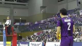 getlinkyoutube.com-Volleyball 東レ 1-3 パナソニック -3set Vプレミアリーグバレーボール 2013.3.31