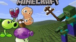 getlinkyoutube.com-Minecraft Mod Showcase: PLANTS VS ZOMBIES (Pea shooter, Magnet shroom, Pea nut!) MINECRAFT WARFARE!