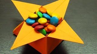 getlinkyoutube.com-Como hacer una cajita de papel en forma de estrella para dulces paso a paso (Muy fácil)