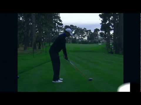 Tiger Woods Driver Golf Swing AT&T 2012 (fade)