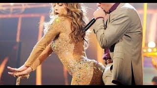 Pitbull get a big boner dancing with Jlo Big Booty