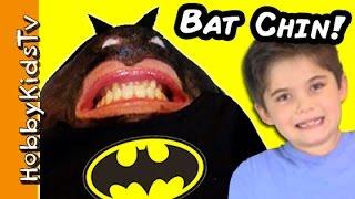 getlinkyoutube.com-Batman CHIN Face! Superhero FUNNY Chinterview with HobbyMom HobbyKidsTV