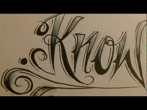 tattoo script calligaphy + abstract rico