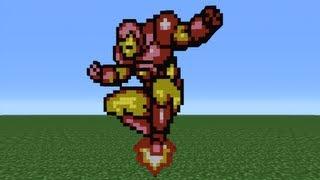 getlinkyoutube.com-Minecraft 360: How To Make Iron Man *Remake*