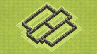 getlinkyoutube.com-Clash of Clans Town Hall 4 Defense BEST CoC TH4 Farming Base Layout Defense Strategy