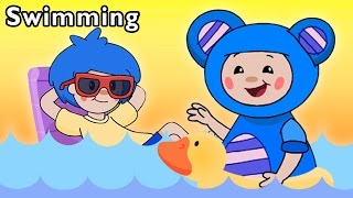 getlinkyoutube.com-Pool Party with Friends | Swimming and More | Baby Songs from Mother Goose Club!