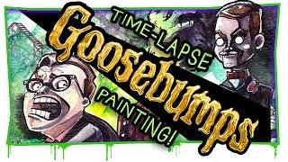 getlinkyoutube.com-GOOSEBUMPS IS BACK! | Movie inspired painting