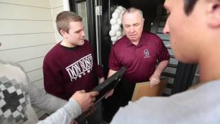Former Don Bosco football coach Greg Toal has emotional visit from his players