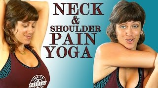 getlinkyoutube.com-Neck & Shoulder Pain Relief Exercises & Yoga Stretches Jen Hilman