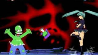 getlinkyoutube.com-PineappleProducer MUGEN #023: Homer's Nightmare