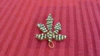 getlinkyoutube.com-DIY Tutorial de hoja de marihuana con chaquiras o mostacillas