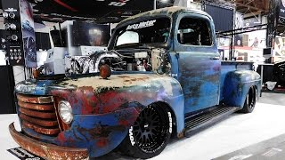 "getlinkyoutube.com-1949 Ford F-1 ""Old Smokey""  1200 HP Cummins Shop Truck The SEMA Show 2016"