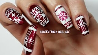 getlinkyoutube.com-Christmas Nail Art   Three Nail Art Designs for Holidays (Khrystynas Nail Art)