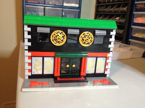 Chinese Restaurant & Brothel LEGO MOC - Update #2