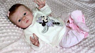 Morning routine baby reborn doll Karlotta.