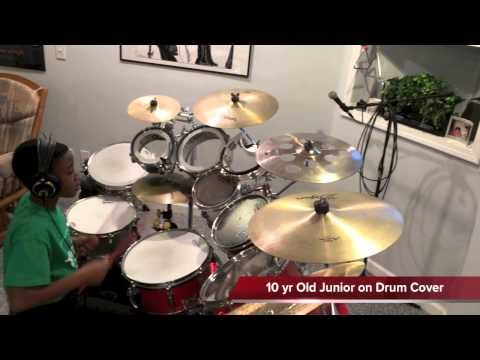 Yahweh (Sonnie Badu) - 10 yr Old Junior on Drum Cover