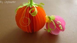getlinkyoutube.com-DIY - Calabazas en 3D para halloween // Decoración Facil