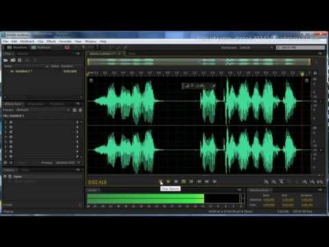 Como crear una voz ROBOTICA usando adobe audition CS5.5 y 3.0