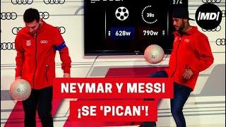getlinkyoutube.com-Neymar y Messi se 'pican' en la entrega de coches Audi