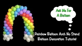 getlinkyoutube.com-Rainbow Balloon Arch DIY - Balloon Decoration Tutorial