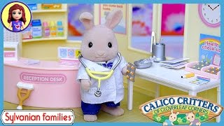 getlinkyoutube.com-Sylvanian Families Calico Critters Country Doctor Set Up Review Play - Kids Toys