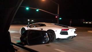 Lamborghini-Aventador-vs-Mustang-GT-on-the-Streets width=