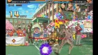 KOF 2002 UM Japan Team death combo movie