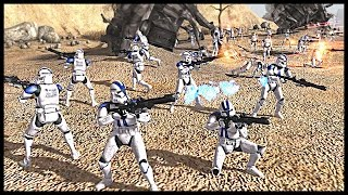 getlinkyoutube.com-Clone Convoy Ambushed - Battle of Rugosa | Men of War Assault Squad 2 Star Wars Mod Gameplay