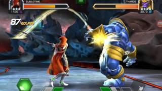 getlinkyoutube.com-Marvel Contest of Champions - Guillotine vs Thanos