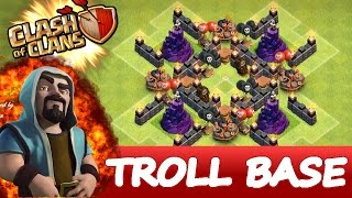 "getlinkyoutube.com-Clash Of Clans | EPIC WIZARD TOWER TROLL BASE | ""THE BLACK HOLE"""