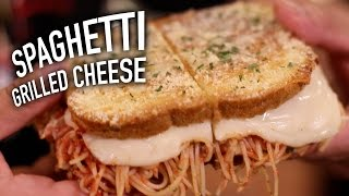 Spaghetti Grilled Cheese width=