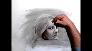 getlinkyoutube.com-Adele - Speed Drawing Portrait in Charcoal