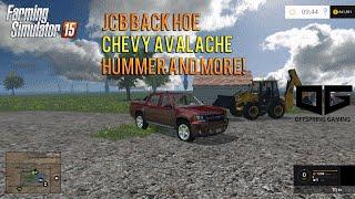 getlinkyoutube.com-Farming Simulator 2015 Mods- JCB Back Hoe,  Avalanche, Western Star and More!