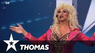 getlinkyoutube.com-Thomas aka. Megan Moore aka. Dolly Parton   Danmark Har Talent 2017   Audition 1