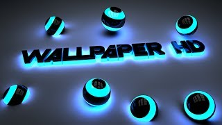 getlinkyoutube.com-Cinema 4D - COMO CREAR UN Wallpaper en CINEMA 4D (neón) + EDITABLE