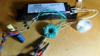 getlinkyoutube.com-Блок питания из электронного трансформатора
