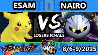 Super Smash Con - Nairo (Meta Knight) Vs. ESAM (Pikachu) - Losers Finals - SSBB
