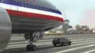 getlinkyoutube.com-طائرة تهبط على سيارة في الشارع العام !!!