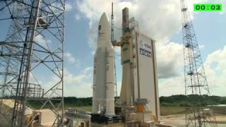 getlinkyoutube.com-Ariane 5 lifts off from French Guiana with four Galileo spacecraft