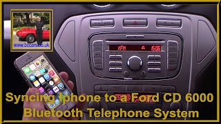 getlinkyoutube.com-Syncing Iphone to a Ford CD 6000 Bluetooth Telephone System