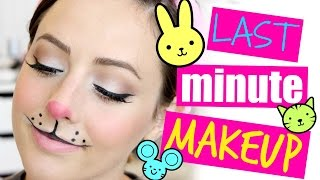 Last Minute Bunny/Mouse Halloween Makeup!