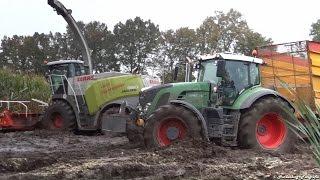 getlinkyoutube.com-Extreme Modder | Claas Jaguar 950 | Mud | Blankespoor | Ederveen | Nederland | Mais | 2014 | Maize.