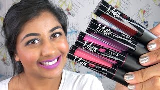 getlinkyoutube.com-NEW L.A. Girl Matte Pigment Gloss Review & Lip Swatches!